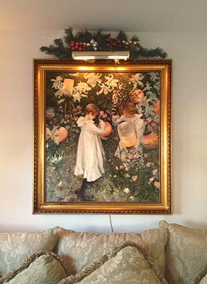edward tadiello's painting after Sargent in a collectors home