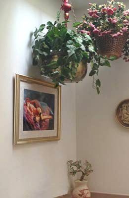 edtadiellos painting in a collectors home